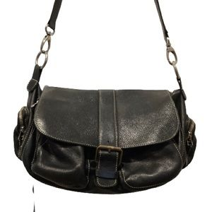 ROOTS OVER THE SHOULDER/CROSSBODY LEATHER PURSE